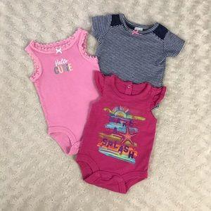 Newborn Baby Girl Romper Bodysuit Bundle